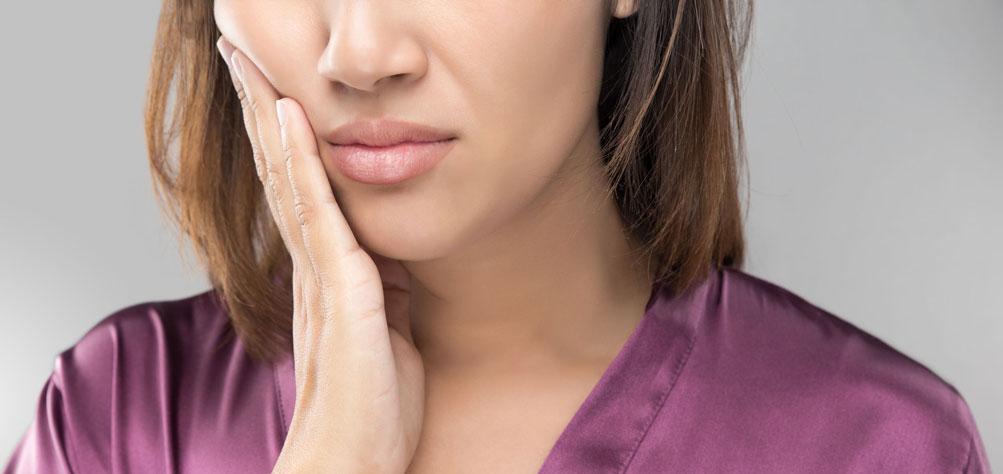 Woman with Temporomandibular Disorder (TMD)